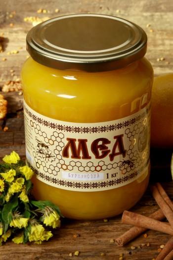 Мед буркуновий 1кг(720мл)